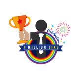 One Million Likes Celebration. One Million Likes Celebration Vector Illustration Royalty Free Stock Photo