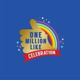 One Million Likes Celebration. Vector Illustration Royalty Free Stock Photography