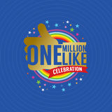 One Million Likes Celebration. Vector Illustration Stock Image
