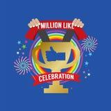 One Million Likes Celebration. Vector Illustration vector illustration