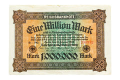 One Million Mark 1923 Stock Photo