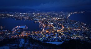 One million Night view of kuan guan mountain royalty free stock photo