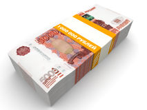 One million Russian rubles Royalty Free Stock Images
