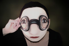 One mime with glasses Stock Images
