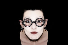 One mime with glasses Royalty Free Stock Image