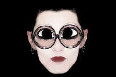 One mime with glasses Stock Photo