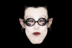 One mime with glasses Royalty Free Stock Photography
