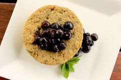 One Minute Blueberry Muffin 4 Stock Photos