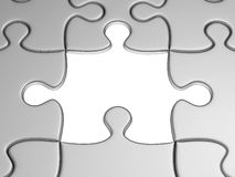 One missing jigsaw Stock Photography