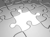 One missing jigsaw piece Stock Photo