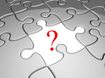 One missing jigsaw piece from the puzzle sheet vector illustration