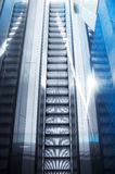 One modern escalator Royalty Free Stock Photo