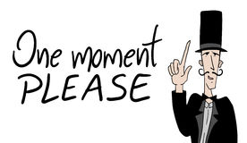 One moment please comment. Creative design of one moment please comment Royalty Free Stock Image