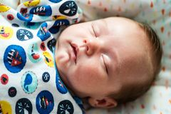 One month old baby sleeping peacefully Royalty Free Stock Photography