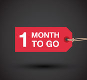 One month to go sign Stock Images