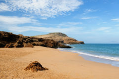 One of an more beautiful pristine Pilon de Azucar beaches in Colombia stock images