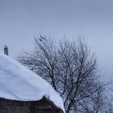 One more evening in Mountain Shoria village stock photo