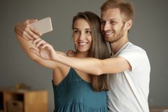 One more selfie together Stock Photos