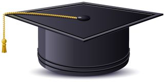 One mortarboard. Illustration in vector format Royalty Free Stock Photos