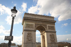 One of the most attractive landmark for tourism at Paris, France, Arc de Triomphe, europe, sunny day, wonderful, ancient monument Stock Image