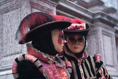 The ancient costumes, of two gendarmes, guards of the Vatican state. One of the most beautiful carnivals in the world in the city royalty free stock photography