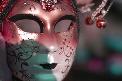 A mask without a body. One of the most beautiful carnivals in the world in the city royalty free stock photo