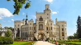 One of the most beautiful castles in Czech Republic - Hluboka castle royalty free stock photo