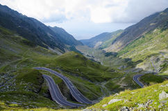 One of the most beautiful mountain roads in the world located in. The Carpathian Mountains of Romania stock photos