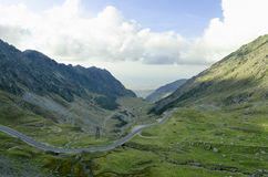 One of the most beautiful mountain roads in the world located in. The Carpathian Mountains of Romania Stock Photography