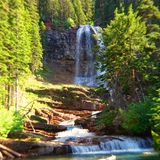 St. Mary Lake area in Glacier Park stock images