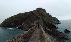 San Juan de Gaztelugatxe. One of the most beautiful places to visit in Spain, located in the Basque Country stock photo