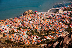 One of the most beautiful villages in China. Qingdao laoshan's village in China Royalty Free Stock Photos