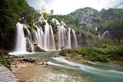 One of the most beautiful waterfall of Plitvice lakes national park in Croatia Stock Image