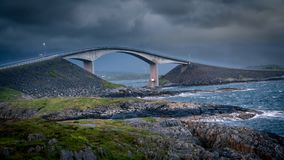 Atlantic Road, Norway. One of most epic roads on the world Stock Photo