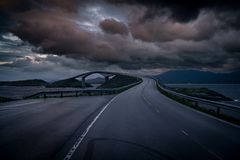 Atlantic Road, Norway. One of most epic roads on the world Stock Image