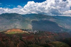 Dongchuan Red Land of Yunnan stock image