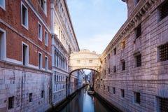 Venice - Ponte dei Sospiri. One of the most famous landmark in Venice, Ponte dei Sospiri Stock Photo
