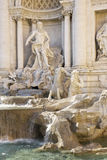 One of the most famous landmarks - Trevi Fountain Stock Image