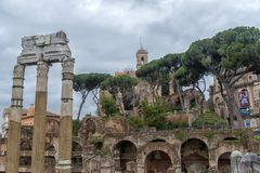 One of the most famous landmarks in the world - Roman Forum. stock photography