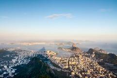 Rio de Janeiro from Corcovado, Brazil Royalty Free Stock Photo