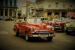 Classic car Havana royalty free stock image