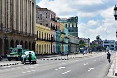Colorful buildings - Havana royalty free stock photo