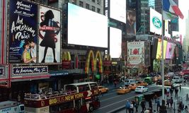 Times Square New York. One of the most important tourist destination in New York City - United States of America royalty free stock photos