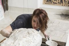 Young Croatian artist Lucija Jelic Stock Images