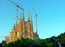 Photoshoot at the Sagrada Familia stock photo