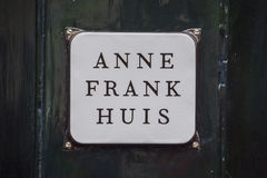 One of the most popular attractions in Amsterdam - the Anne Frank House and museum - AMSTERDAM - THE NETHERLANDS - JULY. One of the most popular attractions in royalty free stock photo
