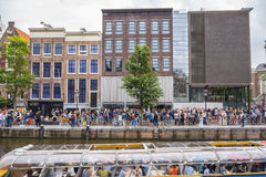 One of the most popular attractions in Amsterdam - the Anne Frank House and museum - AMSTERDAM - THE NETHERLANDS - JULY Stock Photography
