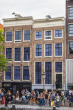 One of the most popular attractions in Amsterdam - the Anne Frank House and museum - AMSTERDAM - THE NETHERLANDS - JULY Royalty Free Stock Photography