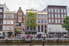 One of the most popular attractions in Amsterdam - the Anne Frank House and museum - AMSTERDAM - THE NETHERLANDS - JULY Royalty Free Stock Photos