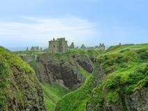 Breathtaking Dunnottar castle in Scotland, United Kingdom royalty free stock photo
